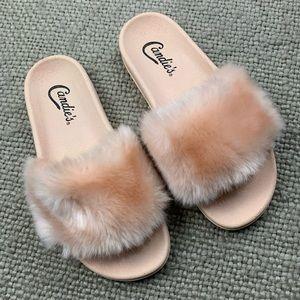 Candie's Faux Fur Slides